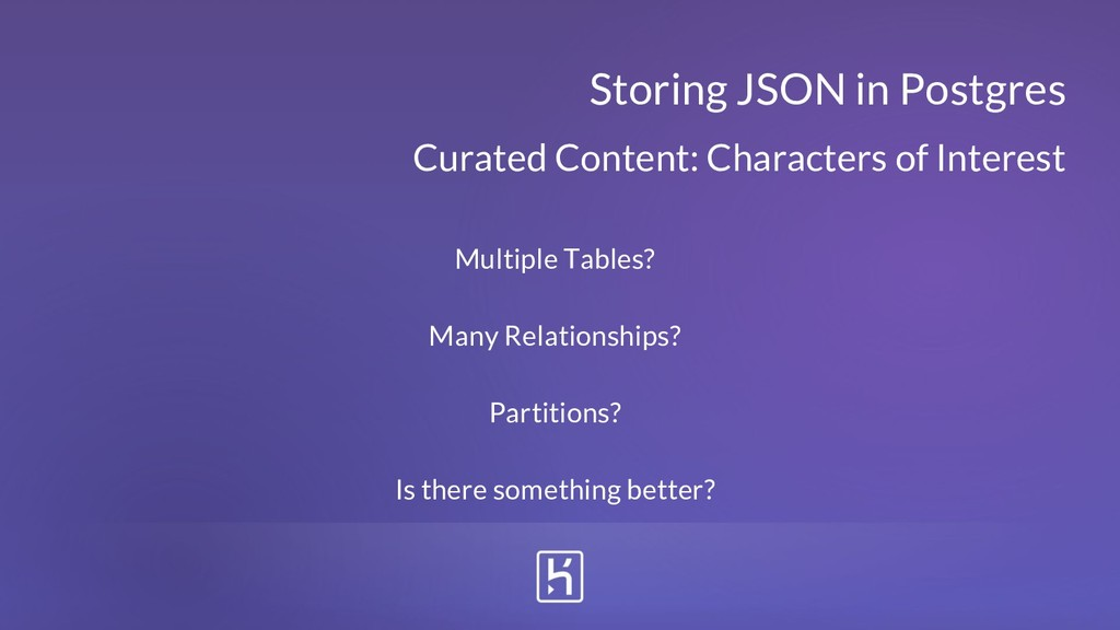 Curated Content: Characters of Interest Storing...