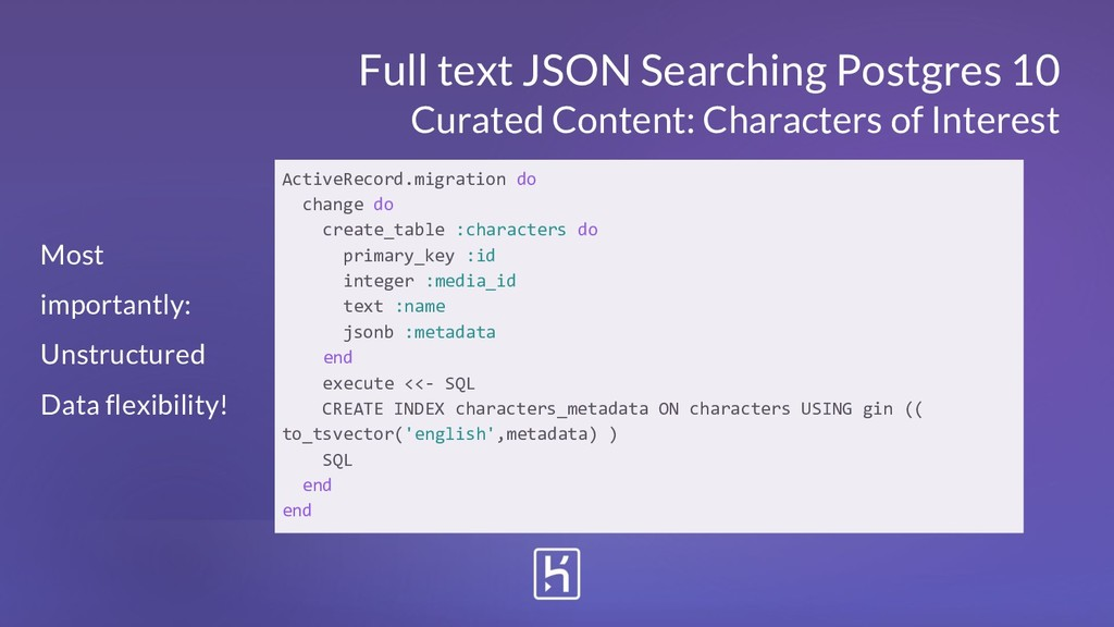 Full text JSON Searching Postgres 10 Curated Co...