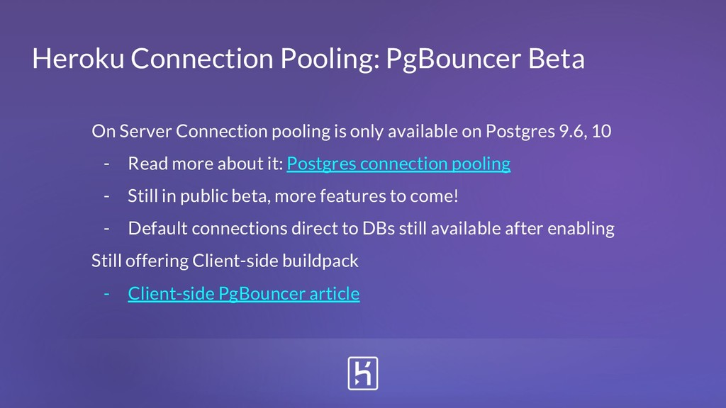 Heroku Connection Pooling: PgBouncer Beta On Se...