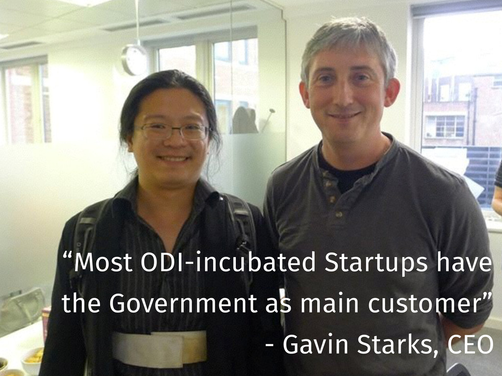 """""""Most ODI-incubated Startups have the Governmen..."""
