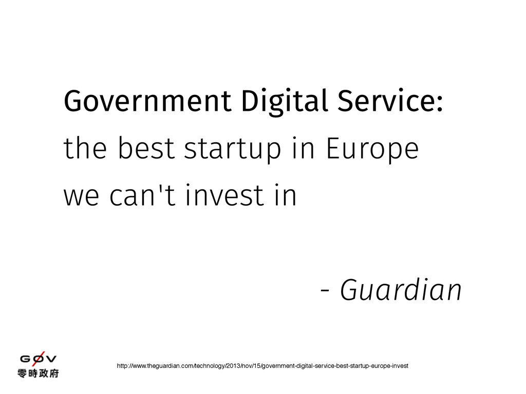 Government Digital Service: the best startup in...
