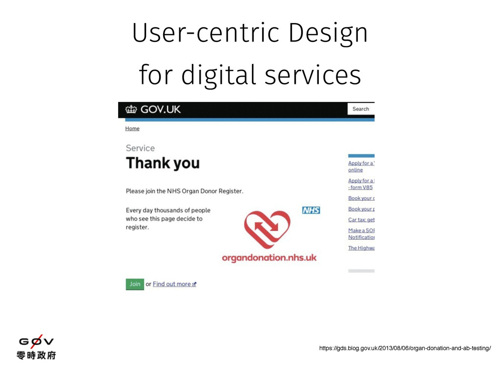 User-centric Design for digital services https:...