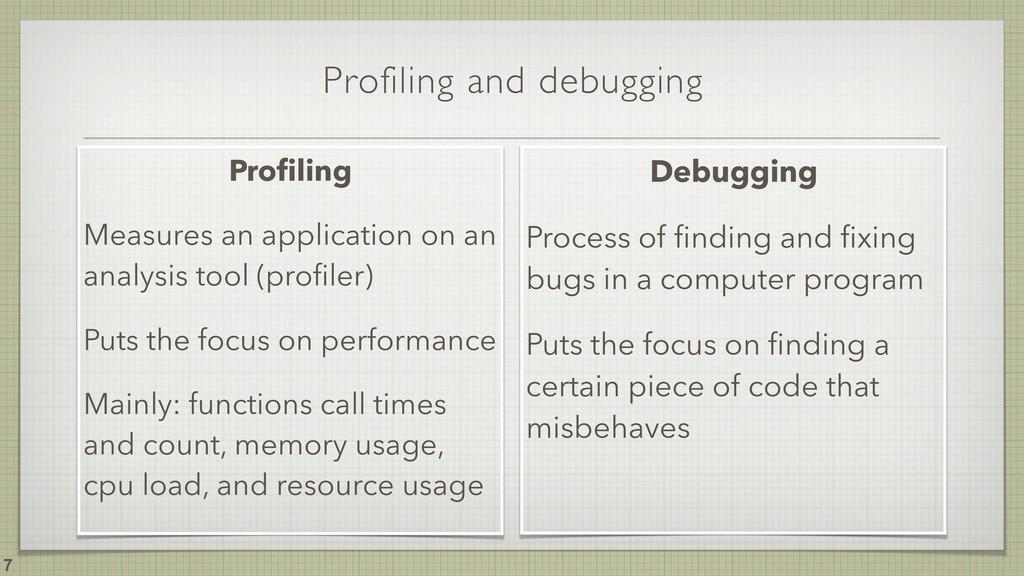 Profiling and debugging !7 Profiling Measures an...