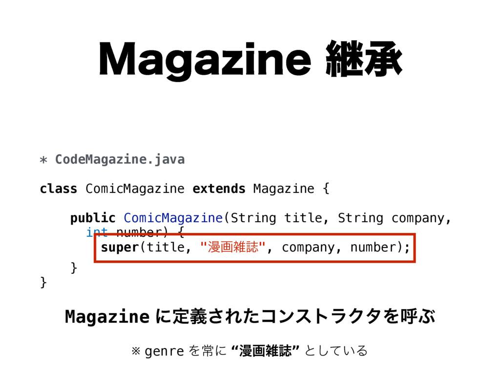 .BHB[JOFܧঝ * CodeMagazine.java class ComicMaga...