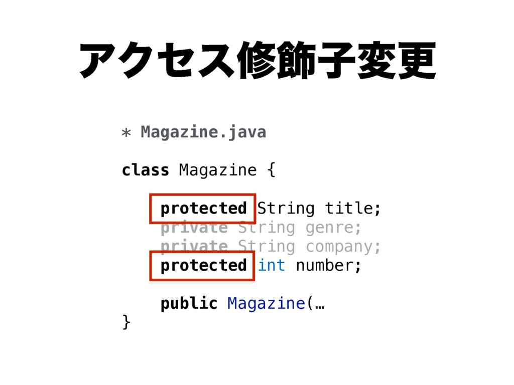 ΞΫηεम০ࢠมߋ * Magazine.java class Magazine { prot...