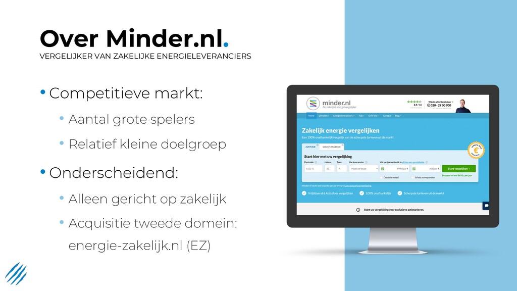Over Minder.nl. VERGELIJKER VAN ZAKELIJKE ENERG...