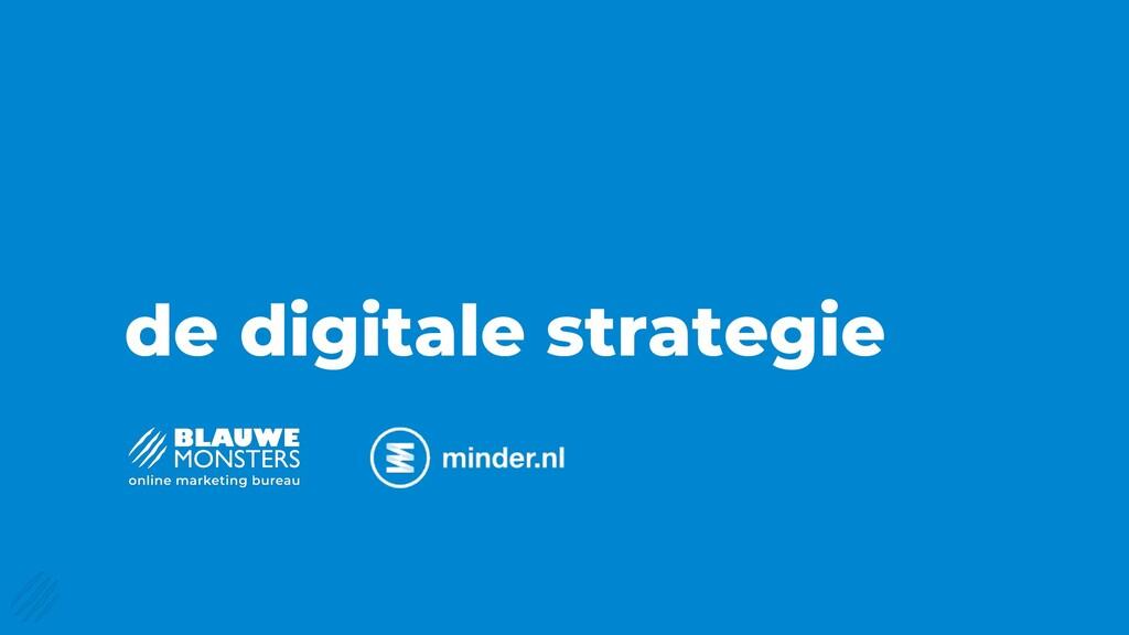 de digitale strategie