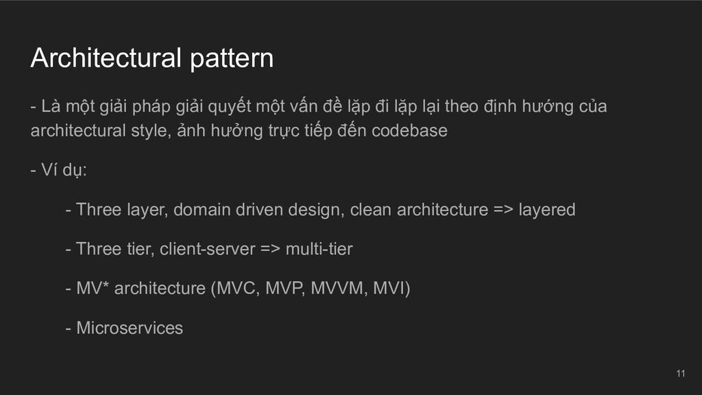 Architectural pattern - Là một giải pháp giải q...