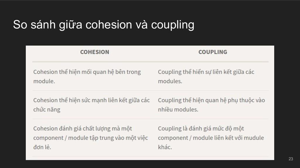 So sánh giữa cohesion và coupling 23