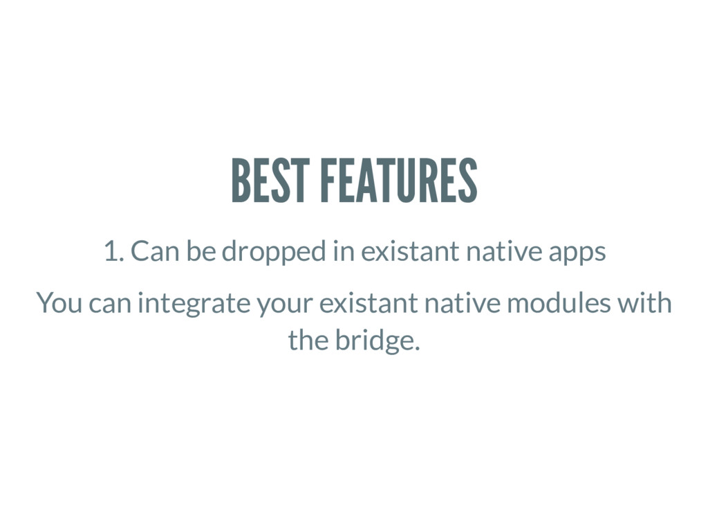 BEST FEATURES 1. Can be dropped in existant nat...