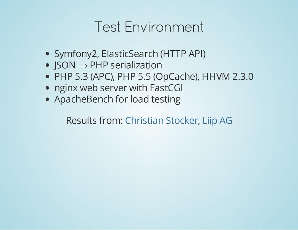 Test Environment Symfony2, ElasticSearch (HTTP ...