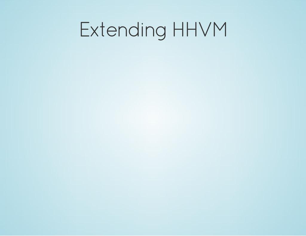 Extending HHVM