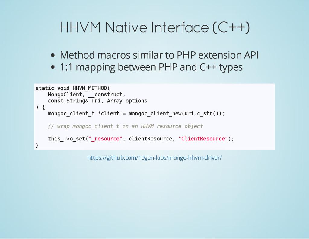 HHVM Native Interface (C++) Method macros simil...