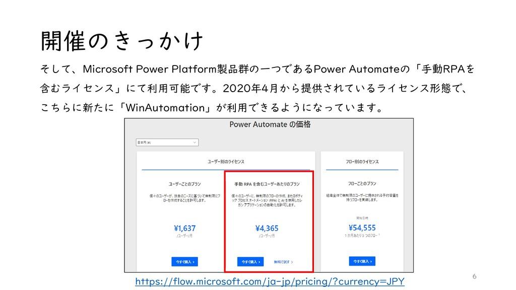 開催のきっかけ そして、Microsoft Power Platform製品群の一つであるPo...