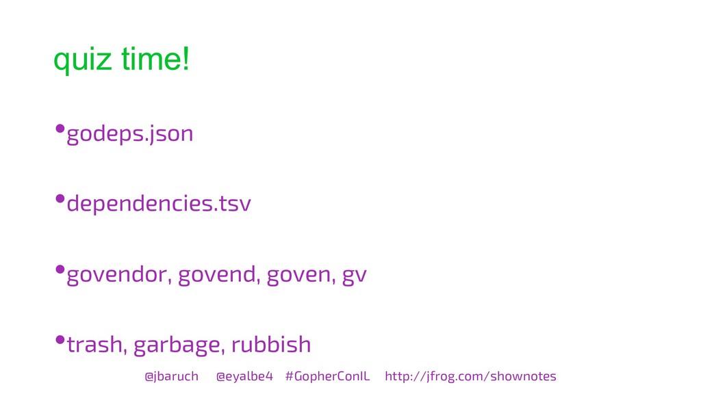 quiz time! @jbaruch @eyalbe4 #GopherConIL http:...