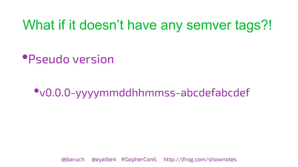 What if it doesn't have any semver tags?! @jbar...