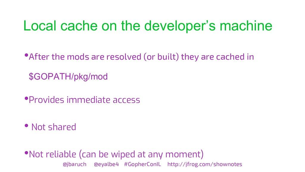 Local cache on the developer's machine @jbaruch...