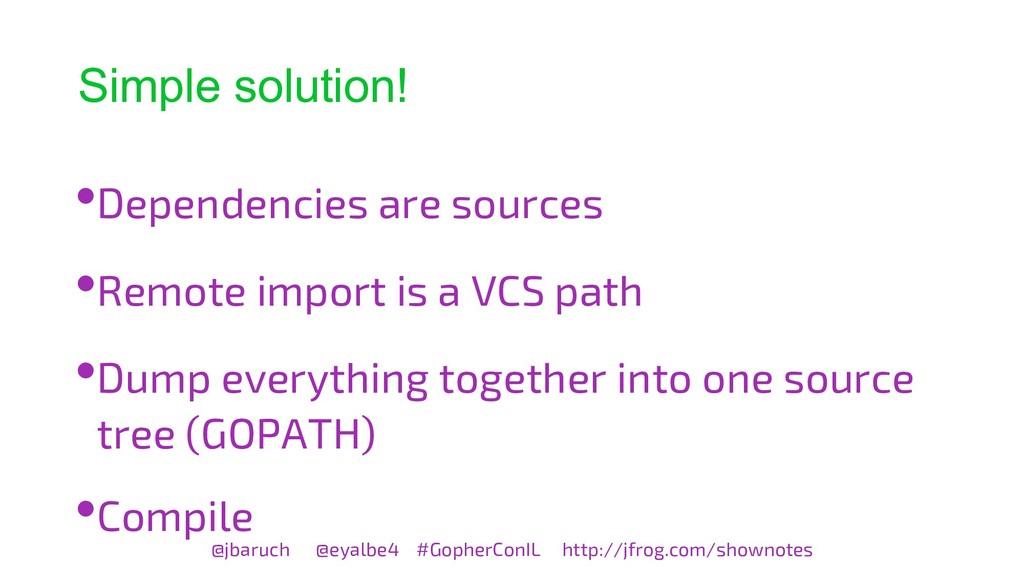 Simple solution! @jbaruch @eyalbe4 #GopherConIL...
