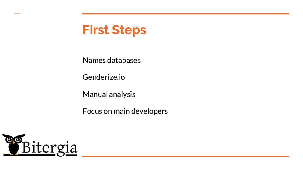 First Steps Names databases Genderize.io Manual...