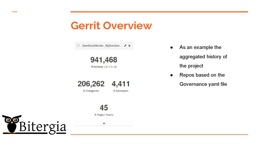 Gerrit Overview ● As an example the aggregated ...
