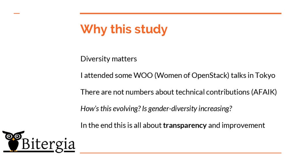 Why this study Diversity matters I attended som...