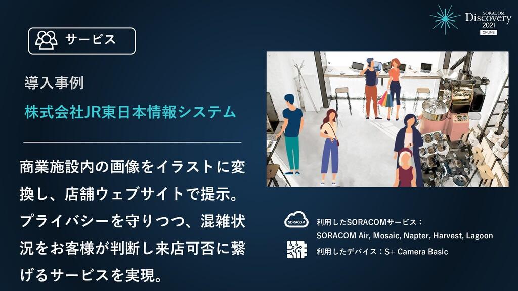株式会社JR東日本情報システム 商業施設内の画像をイラストに変 換し、店舗ウェブサイトで提示。...