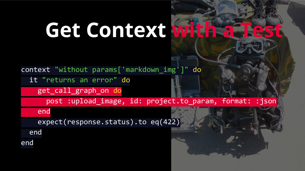 "Get Context with a Test context ""without params..."