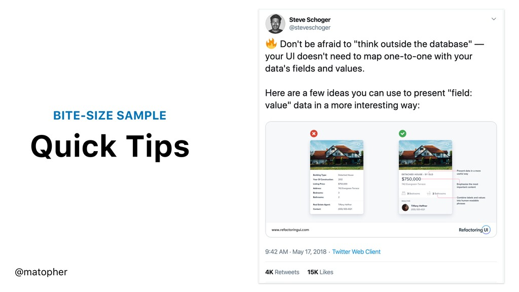 Quick Tips @matopher BITE-SIZE SAMPLE