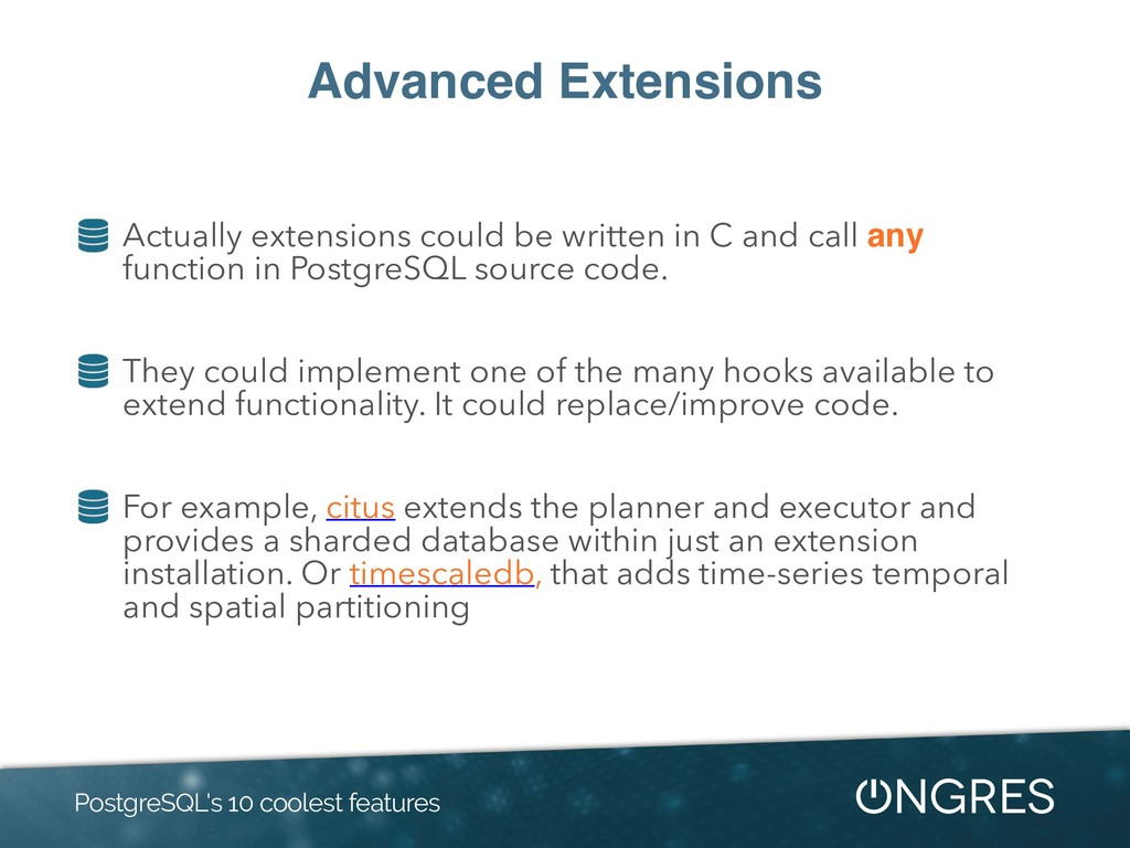 Advanced Extensions Actually extensions could b...