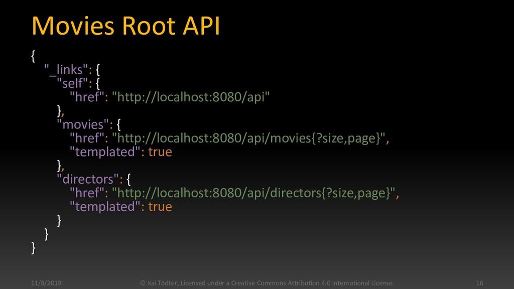 "Movies Root API { ""_links"": { ""self"": { ""href"":..."