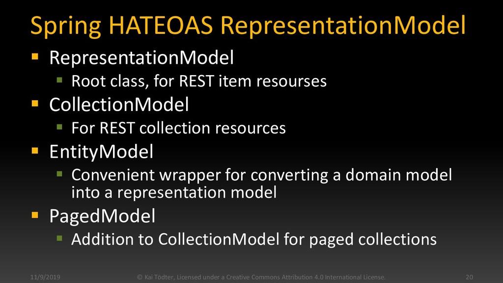 Spring HATEOAS RepresentationModel  Representa...