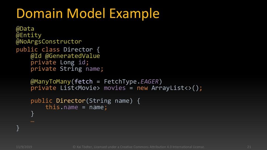 Domain Model Example @Data @Entity @NoArgsConst...