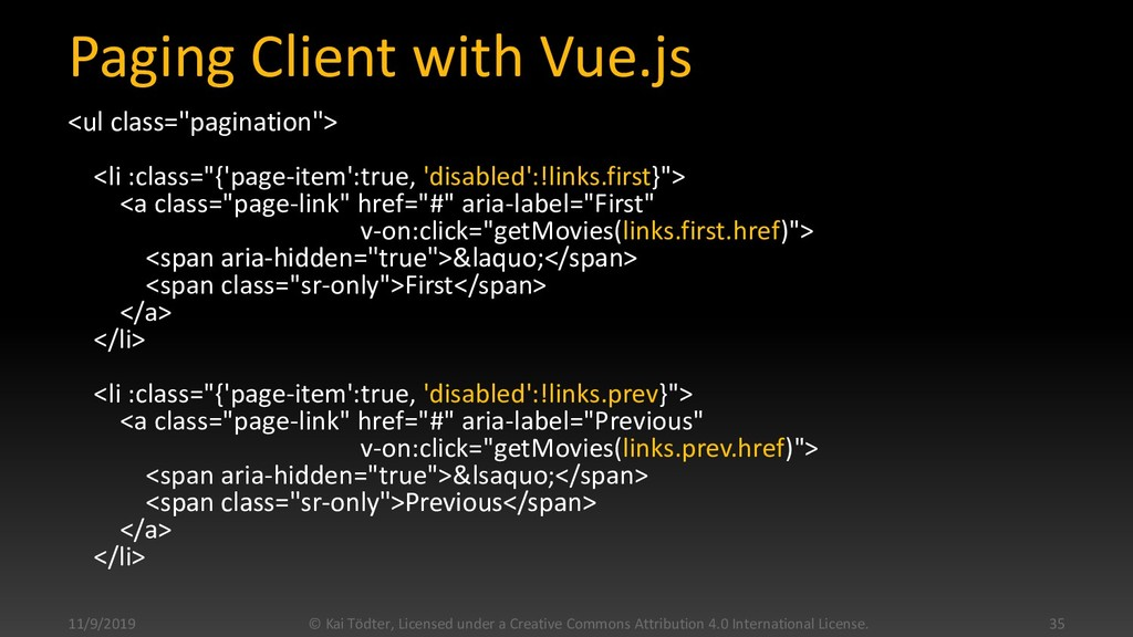 """Paging Client with Vue.js <ul class=""""pagination..."""