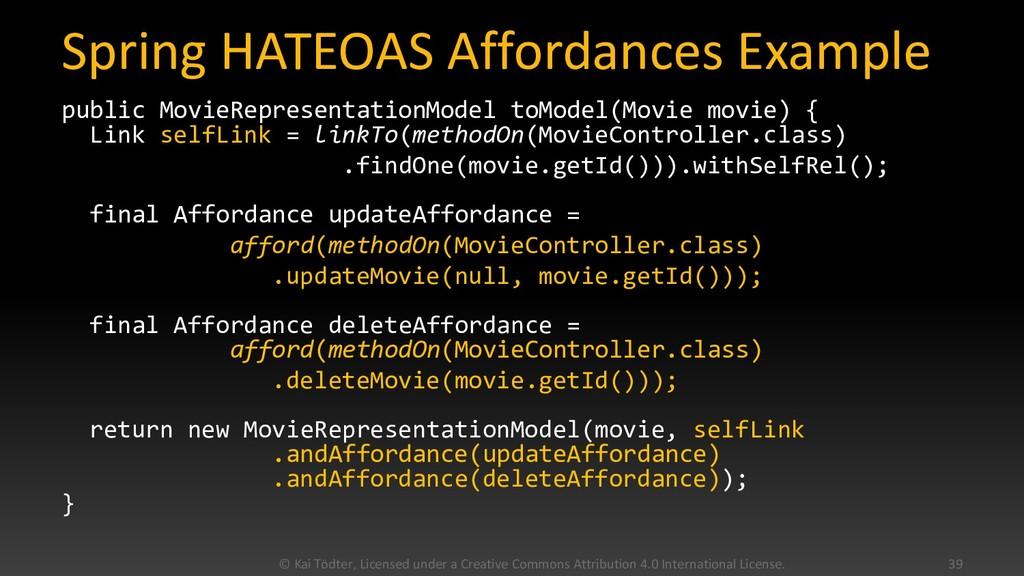 Spring HATEOAS Affordances Example public Movie...