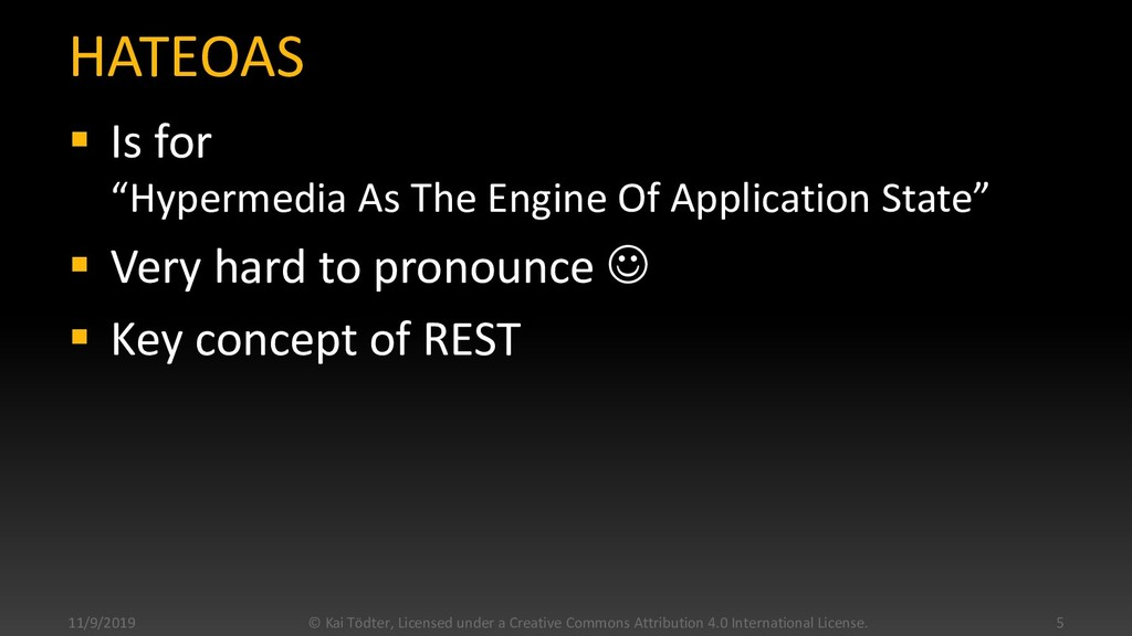 """HATEOAS  Is for """"Hypermedia As The Engine Of A..."""