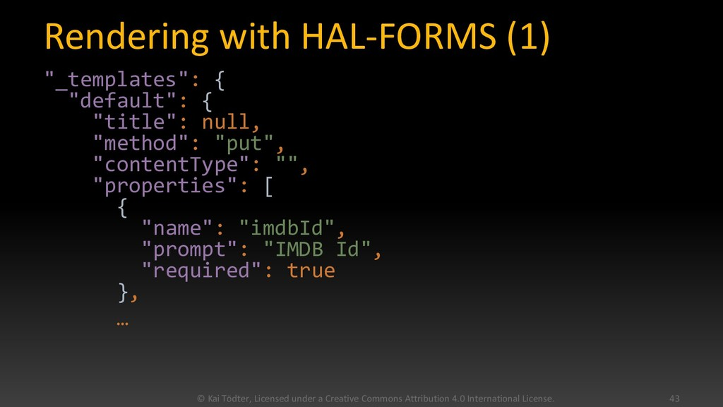 """Rendering with HAL-FORMS (1) """"_templates"""": { """"d..."""