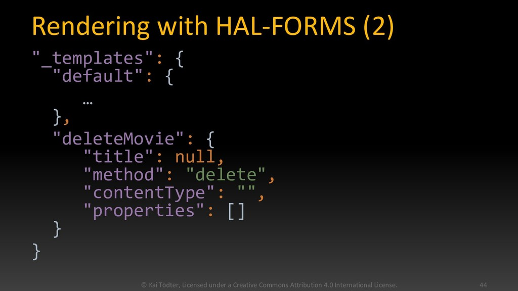 """Rendering with HAL-FORMS (2) """"_templates"""": { """"d..."""