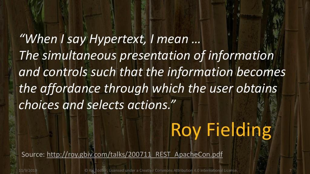 """When I say Hypertext, I mean … The simultaneou..."