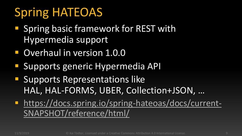 Spring HATEOAS  Spring basic framework for RES...