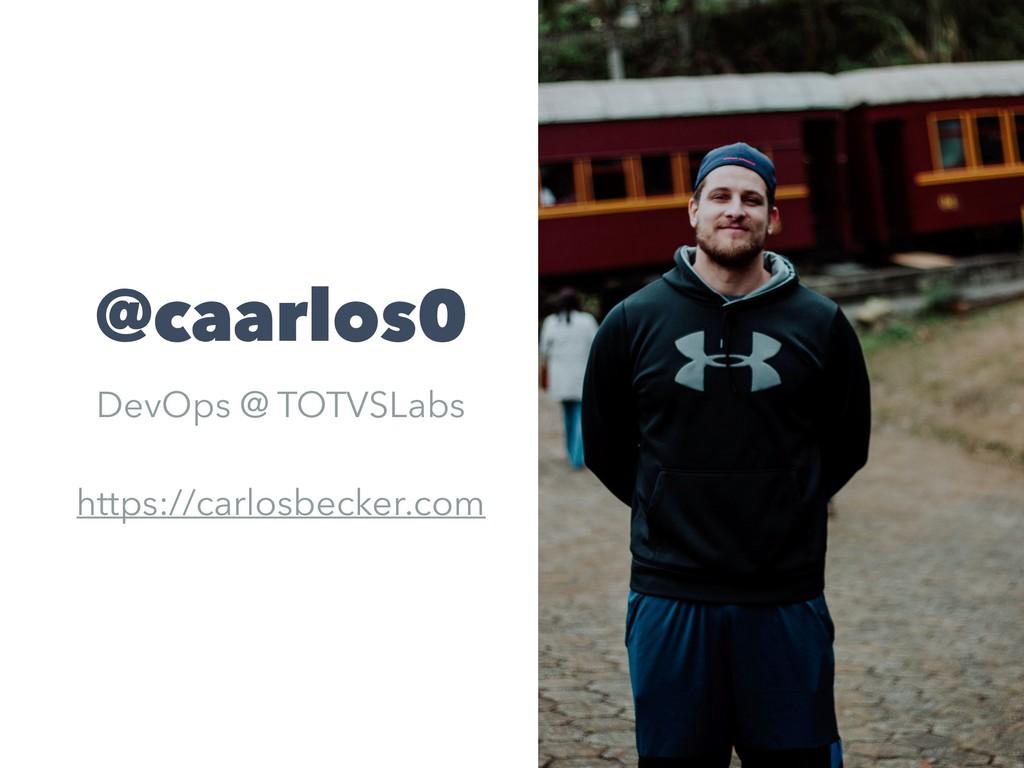 @caarlos0 DevOps @ TOTVSLabs https://carlosbeck...