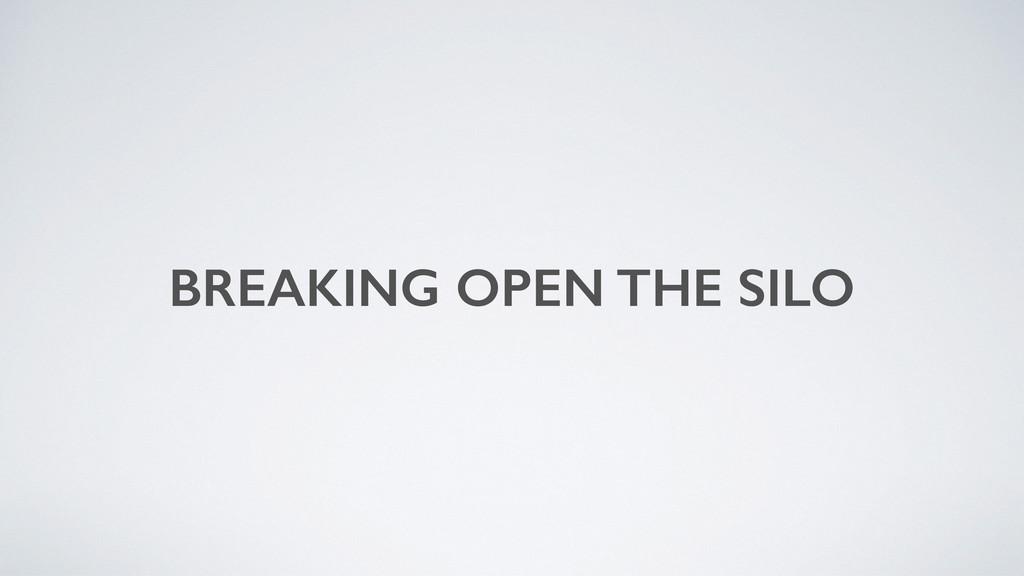 BREAKING OPEN THE SILO