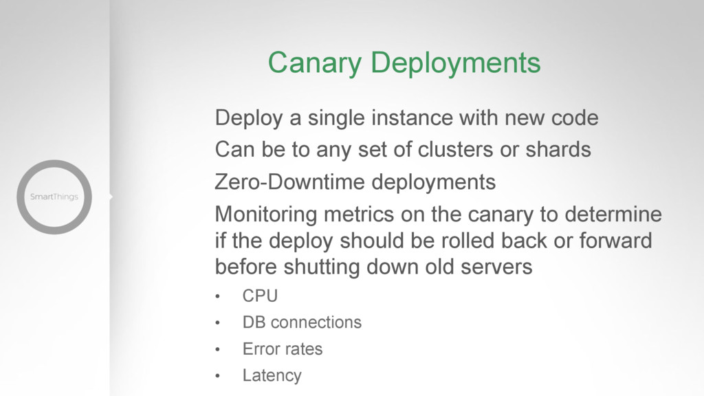 Canary Deployments Deploy a single instance wit...