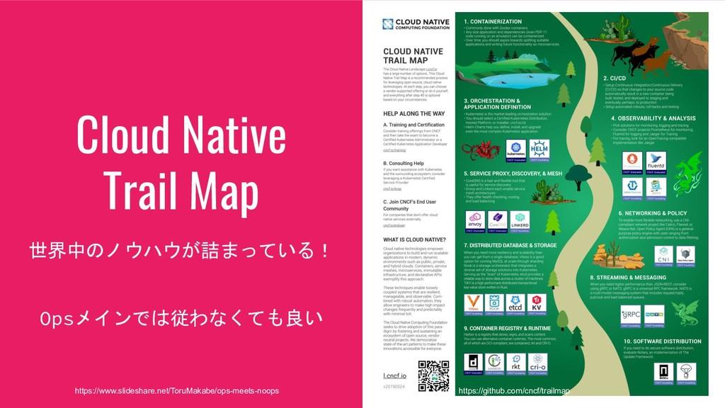 Cloud Native Trail Map 世界中のノウハウが詰まっている! Opsメインで...