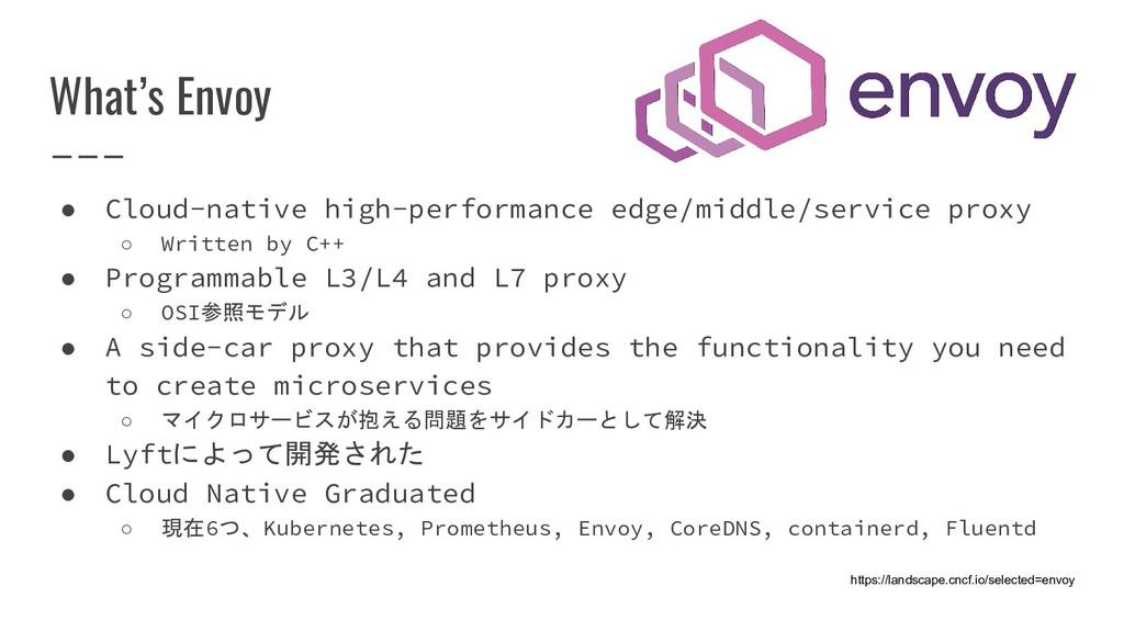 What's Envoy ● Cloud-native high-performance ed...