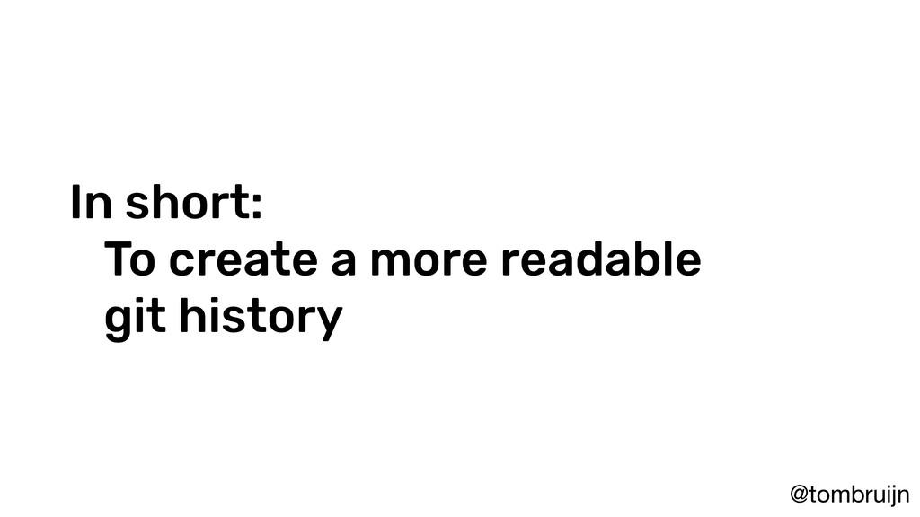 @tombruijn In short: To create a more readable ...