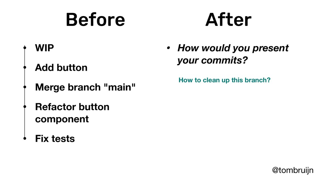 @tombruijn Before After • WIP • Add button • Me...