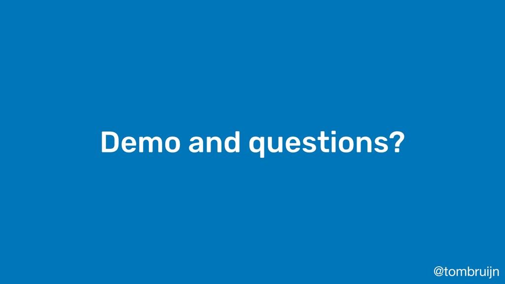 @tombruijn Demo and questions?