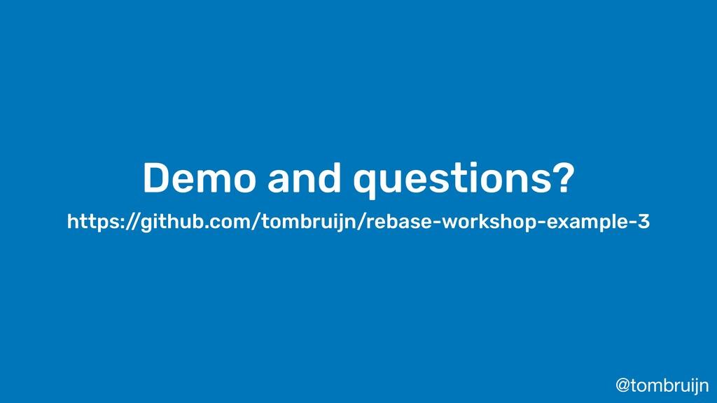 @tombruijn Demo and questions? https:/ /github....