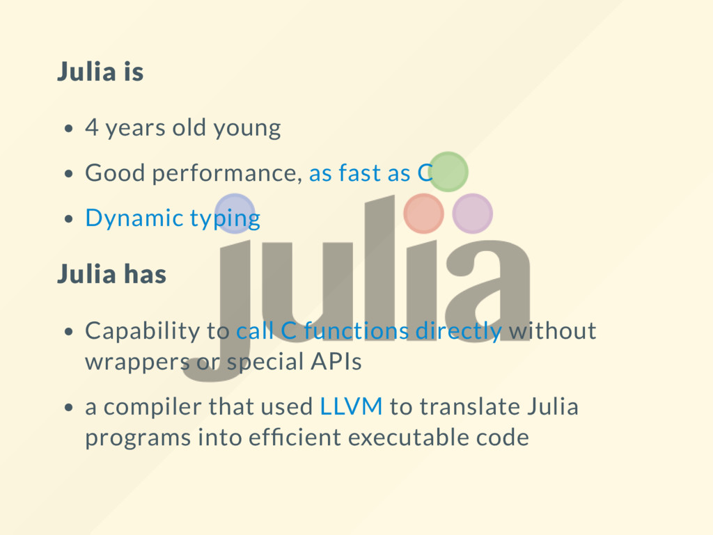 Julia is 4 years old young Good performance, as...