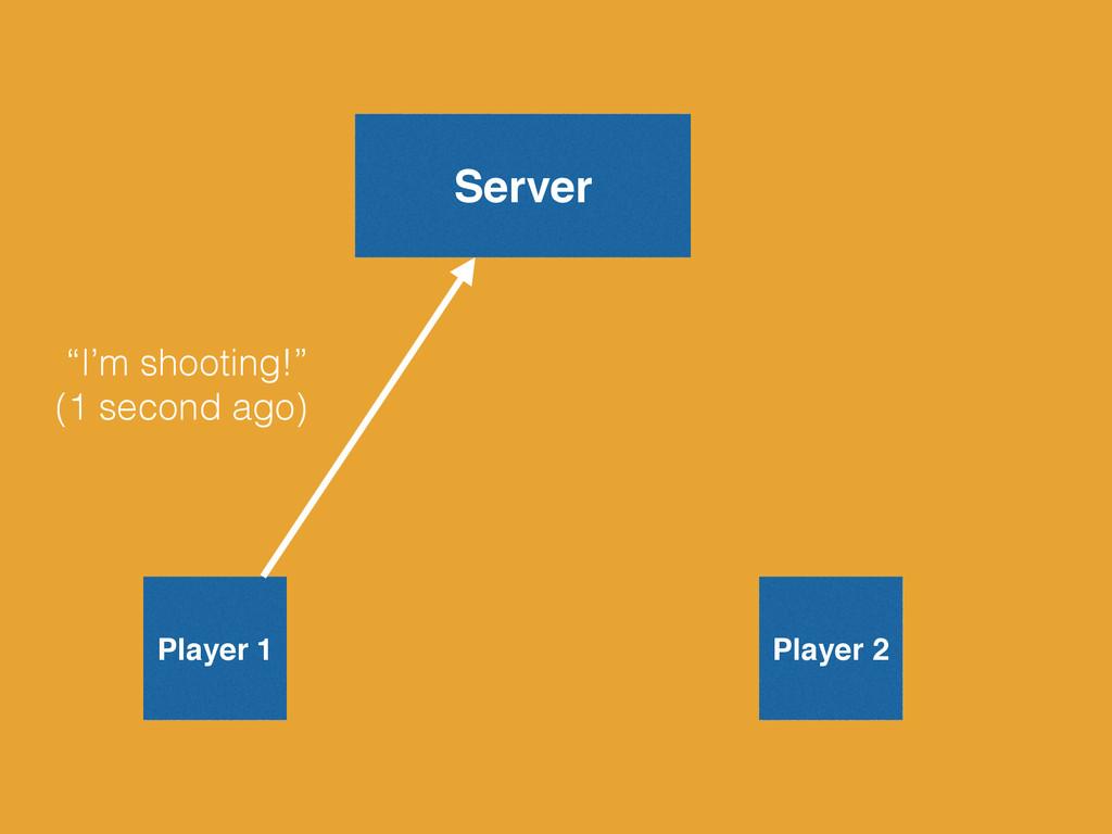 """Server Player 1 Player 2 """"I'm shooting!"""" (1 sec..."""